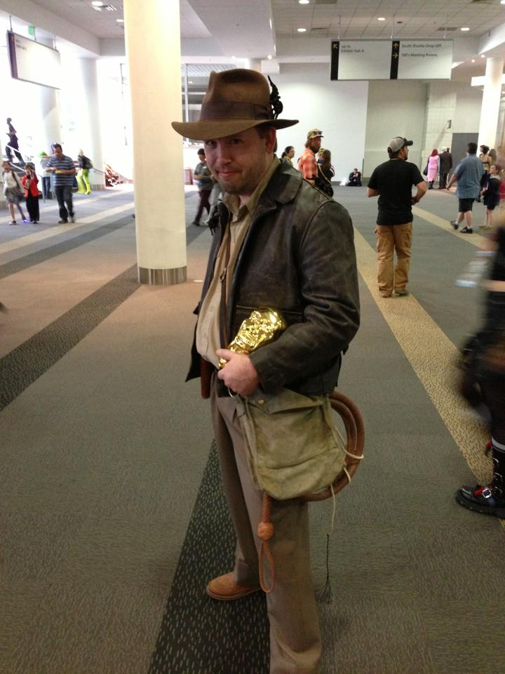 Indiana Jones also had a hidden speaker playing the theme song! lol